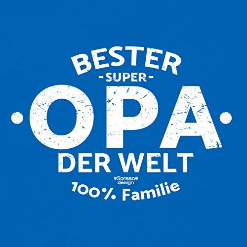 Vatertagsgeschenk Papa Vater Großvater Herren T-Shirt :-: Bester Opa der Welt :-: Geschenkidee für Ihn Männer oder Rentner Farbe: royal-blau Royal-Blau
