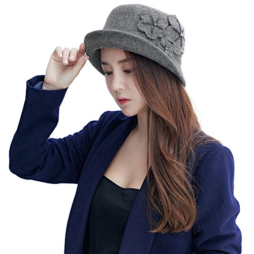 493e063fa69a76 Siggi Womens 1920s Vintage Wool Felt Cloche Bucket Bowler Hat Winter  Crushable - Buy Online in Oman. | Apparel Products in Oman - See Prices, ...