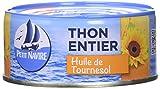 Petit Navire Thon Entier à l'Huile de Tournesol 160 g - Lot de 6