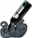 Pfiffig-Wohnen Wein- und Bierflaschenhalter Elefant