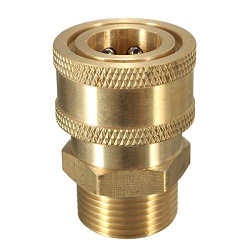 3/20,3 cm Laiton Quick Release Adapter connecter M22 métrique pour nettoyeur haute pression Tuyau