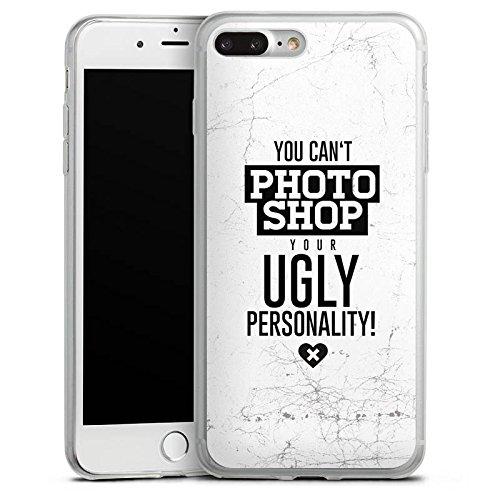 Apple iPhone X Slim Case Silikon Hülle Schutzhülle Persönlichkeit Sprüche Humor Silikon Slim Case transparent
