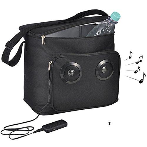 Siehe Beschreibung Kühltasche 18 Liter mit 2 integrierten Funk-Lautsprechern • 18l Lautsprecher Picknick Camping Thermotasche Isoliertasche Kühlbox