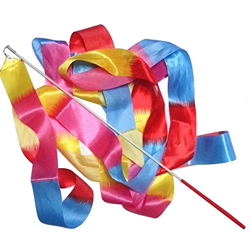 Beetest-4m Rhythmische Gymnastik Band mit Stick (Guard-streamer Color)