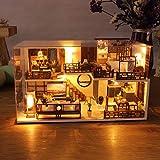 Duquanxinquan - Casa delle bambole in legno, modello fai da te 3D, in miniatura, con accessori mobili, giocattoli educativi, appartamento Time, kit di rinnovamento dei mobili