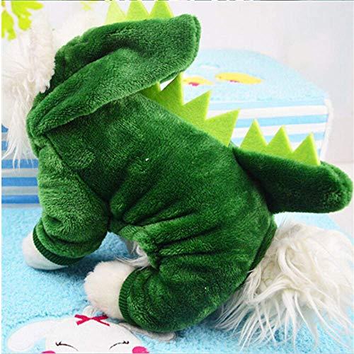 er Hund Band Winter Warm Warm Familie Chihuahua Jacken Katze Hoodies Kostüme Mops Französisch Bulldogge Kleidung Xs- XXL XXL Grün ()