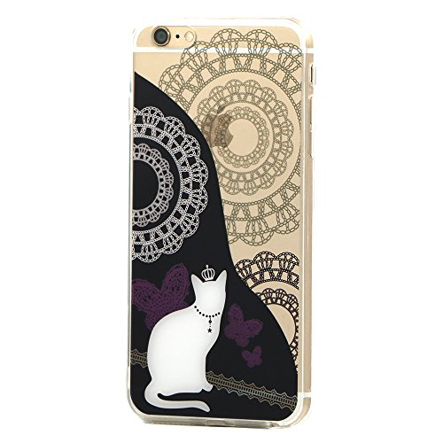 Coque iPhone 7 Plus, TrendyBox PC Hard Cover avec soft TPU Pare-chocs pour iPhone 7 Plus (Happy Halloween) Reine Chat