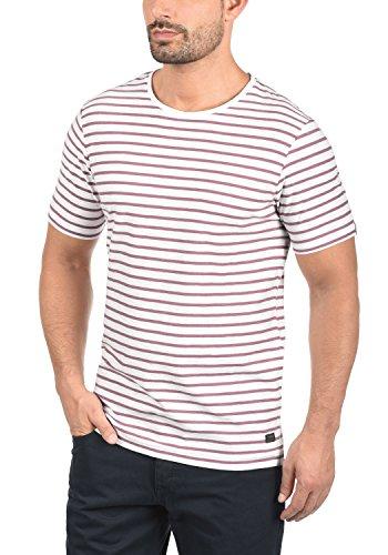 PRODUKT Luis Herren T-Shirt Kurzarm Shirt in Moderner Streifen-Optik Aus Hochwertiger Baumwolle mit Rundhals-Ausschnitt Mesa Rose