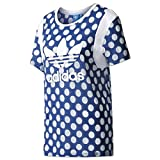 adidas Damen BF Trefoil Tee Shirt, Blau (Azurea/Ópaper), 36