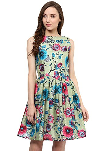 Miss Chase Women's Polyester Skater Dress