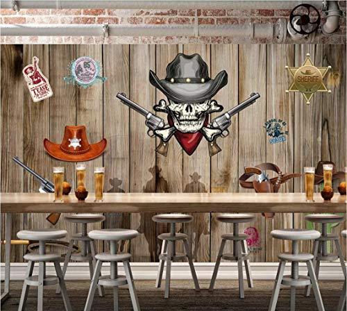 Vlies Tapete Western Cowboy - Board, Amerikanischen Retro - Kulisse Tapeten Wandbilder Wohnzimmer ()