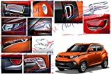 #4: Auto Pearl - Premium Quality Chrome Plated Accessories For Mahindra Kuv 100 - Set Of 8 Pcs.