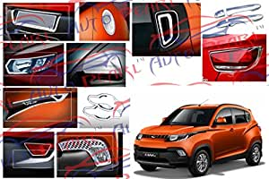 Auto Pearl - Premium Quality Chrome Plated Accessories for Mahindra Kuv 100 - Set of 8 Pcs.
