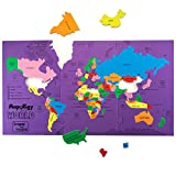 #6: Imagimake Mapology: World - Educational Toy and Learning Aid for Boys and Girls-Map Puzzle-Jigsaw puzzle- Birthday Gift