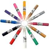 Tinksky 12 couleurs UV Gel acrylique conseils 3D Nail Art DIY peinture vernis Pen Set