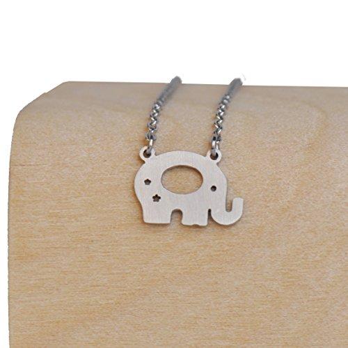 Aoloshow Collier et boucles d'oreilles pour fille Meilleur ami Elephant Necklace - Silver