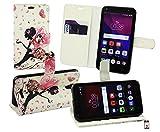 Emartbuy® Alcatel One Touch Pixi 4 ( 5.0 ) 3G PU Cuero Funda Wallet Soporte Carcasa Case Cover PU Cuero con Tarjeta de Crédito Slots - Hada Niña