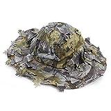 Huenco 3D Foglie Camouflage Ghillie Caps Cappelli da cecchino Camo Parasole  Cappellini da Baseball per Caccia 6278a36862a5
