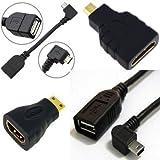 AFUNTA Android Tablet -Kabel-Adapter -Set - Mikro-USB- OTG ; Mini-USB- OTG ; HDMI-Buchse auf Micro -HDMI-Stecker , HDMI- Mini -fähigen Geräten zur Standard- HDMI