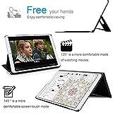 IVSO iPad Pro 12.9 2017 QWERTZ Tastatur, Kabellose Tastatur Schutzhülle mit Standfunction Für Apple iPad Pro 12.9 2017 Tablet, Schwarz