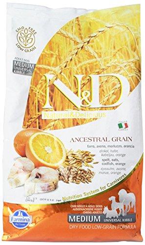 Farmina (Russo Mangimi) - Natural & Delicious Low Ancestral Grain Adult Medium con Merluzzo e Arancia Sacco 2,50 kg