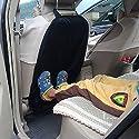 INION® Satz– 1x Rückenlehnenschutz Sitzschoner Sitzschutz Rückenlehnen schütz Rücksitzschutz schützt gegen Kinderfußabdrücken, Nässe, Matsch uvm. Sitzschoner + 2x Stück KFZ Autobirnen T10 Sockel 12Volt