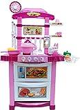 Ultimar Kinderküche - Moderne Küche mit Licht, Ton, Wasserkocher und viel Zubehör, Meine erste Küche, Spielküche, Küche, Mini Kitchen - ROSA