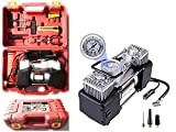 #6: Breewell New 12 V Analog DC 150 PSI Tire Inflator Air Compressor with Tool kit - Silver & Black