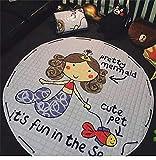 BEAUTIFULNUHAI Für Christmas1.5m Baumwolle Teppich Runde Kinder Gym Rug Spielmatte Baby Spielzeug Beutel Baby Krabbeln Decke Outdoor Pad i