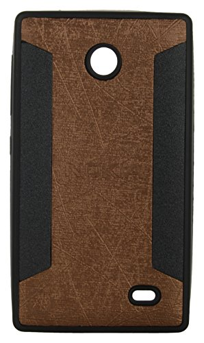 iCandy™ 2 Color Soft Lather Finish Back Cover For Nokia X / X+ - Golden  available at amazon for Rs.119