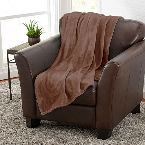 Home Must Haves Bett-Überwurf, luxuriös, aus Plüsch, sehr weich, bequem, atmungsaktiv, Braun (Queen-size-braun Flanell-bettwäsche)