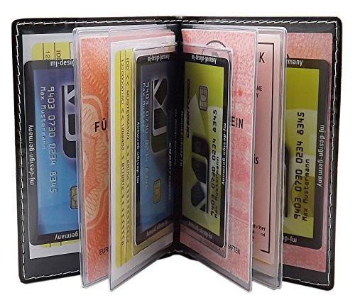 d1d9747c2b ... Porta carte d'identità e carte di credito con 12 scomparti MJ-Design-