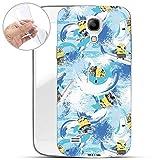 Hülle für Samsung Galaxy S4 Mini - Minions Handyhülle mit Motiv und Optimalen Schutz TPU Silikon Tasche Case Cover Schutzhülle - Minions Surfen Muster