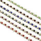 #1: Beadsnfashion Jewellery Making Pearl Stone Chain Combo 6 Colors (3mm)