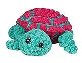 Hugglehounds extrem strapazierfähig und Glitschige Ruff-tex Dude die Schildkröte Pet Toys, Magenta/grün