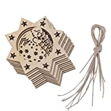 Imported 10pcs Angel Cut Out Wooden Embellishment Tag with String