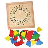 Sharplace Educativi Giochi Montessori Frazione Materiale Matematica Tavolo Parte Rotonda Giocattolo Regalo di Legno per Bambini