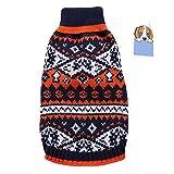 Perro mascota suéter de Navidad caliente Jersey ropa otoño invierno abrigo con patrón de bate para perros pequeños y medianos gatos