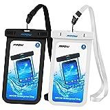 Mpow 2 Stück Wasserdichte Hülle, IPX 8 Handyhülle Beutel Tasche für iPhone, Google Pixel, HTC, LG, Huawei, Sony, Nokia