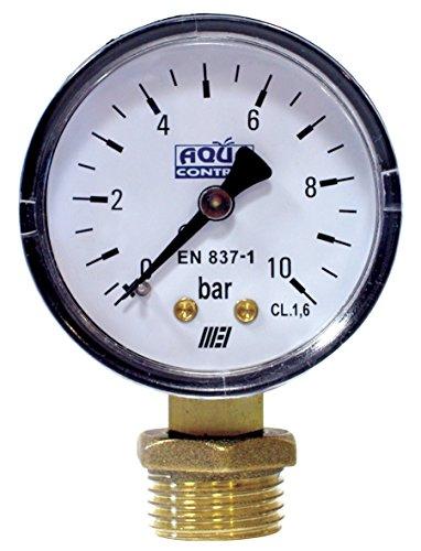 Aqua Control C6199 - Manómetro de 0 a 10 Bar. Roscas 1/4