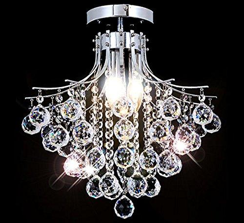 Kristall Kronleuchter Deckenleuchte Lüster Flur Decken Beleuchtung Wohnzimmer Deckenlampe Design Modern Ø40cm 3xE14 Fassungen