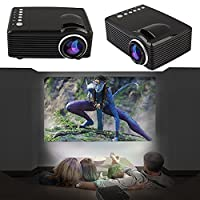 Cewaal HD Video Projector, (UK Plug)Support Dual HDMI & USB Multimedia LCD Image System Home Theatre Projectors for Comp