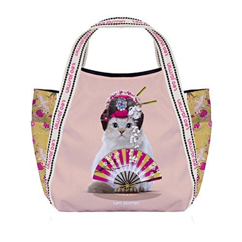 Petit sac shopping Téo Jasmin - Jasmine Geisha Champagne
