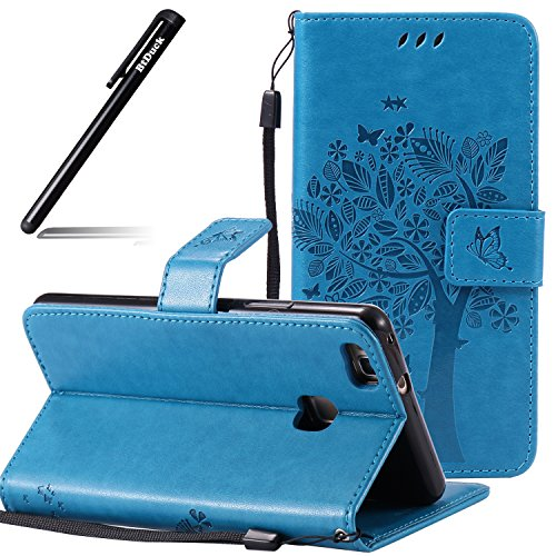 huawei-p9-lite-brieefcase-case-embossed-chartreuxhuawei-p9-lite-cover-russian-blue-catbtduck-the-tre