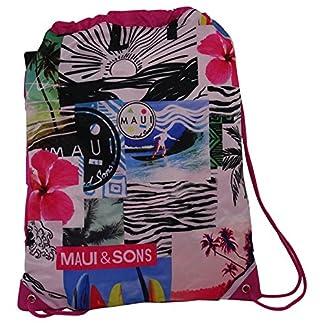 51%2BoIWUyxIL. SS324  - Sunshine Maui And Sons Mochila Bolso Escolar Bolsa de Cuerdas