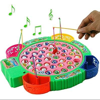 Poisson 45 pièces Électrique Jeu de pêche musicale pour l'éducation précoce
