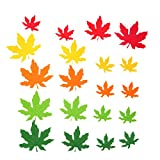 #2: Baoblae Pack of 20 Foam Shapes Maple Leaves Embellishments for Kids Educational Toys Craft