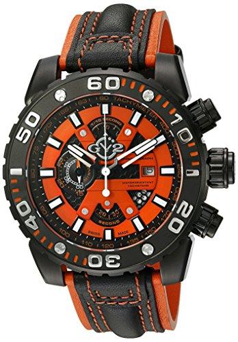 GV2by Gevril Herren 1402Polpo Analog Display Swiss Quartz Black Watch