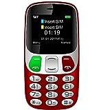 YINGTAI Telephone Portable Mobile Senior Grosse Touches et Bouton SOS (Rouge)