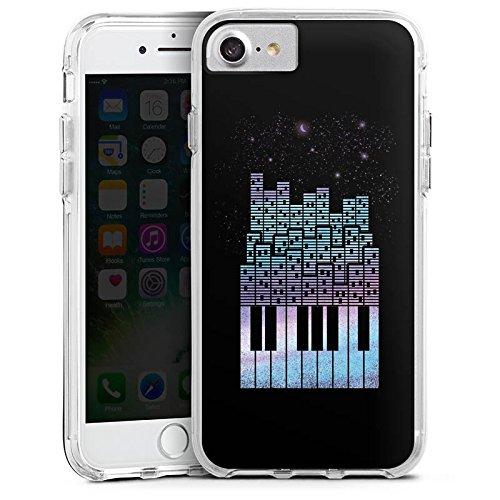 Apple iPhone X Bumper Hülle Bumper Case Glitzer Hülle Piano Klavier Klaviertasten Bumper Case transparent